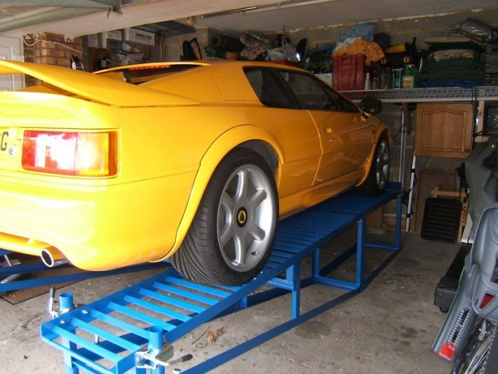 Car Ramp Plans UK. Yellow Lotus
