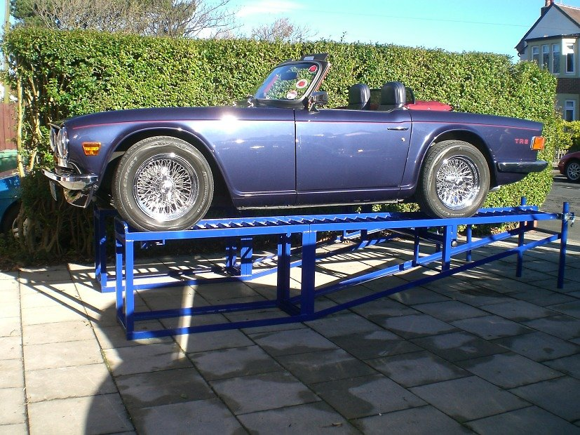 Car Ramp Plans UK. TR6 Outside